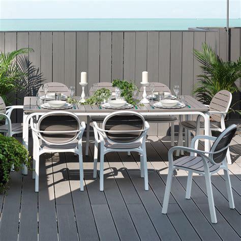 table de cuisine extensible salon de jardin 8 places table rectangulaire extensible