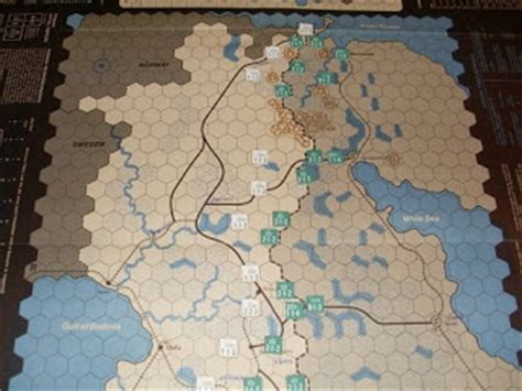 Map And Counters Spi, Winter War The Russofinnish