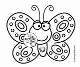 Butterfly Coloring Colouring Pages Printable Smiling Drawing Sheets 4kids Kindergarten Printables Children Easy Simple Drawings Clipart Sheet Kid Clip Preschoolers sketch template