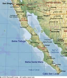 Mexico Baja California Peninsula Map