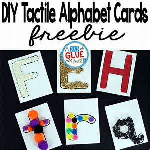 diy tactile alphabet cards a dab of glue will do With tactile letter cards