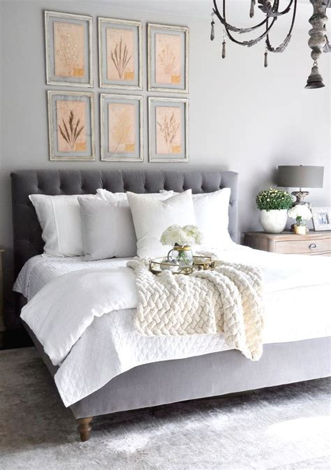 designs for master bedroom best 20 grey tufted headboard ideas on pinterest cozy 15145 | 37c043fac58af2ed37861055e4c95950 white and gray bedroom white bedding