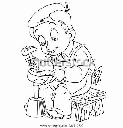 Shoemaker Coloring Cobbler Children