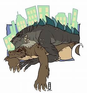 zilla jr x komodithrax | Godzilla Amino