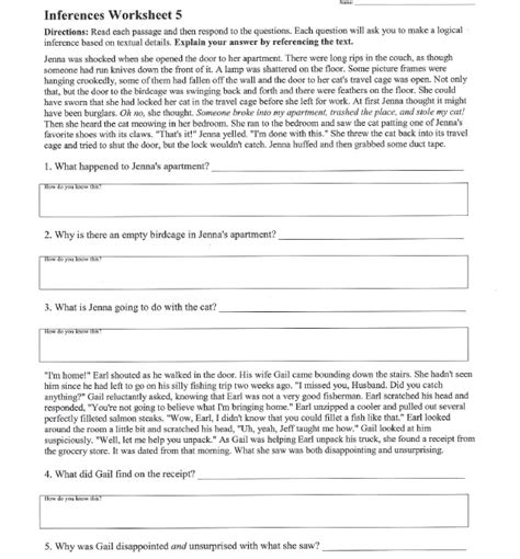 Inference Worksheet 2 Worksheets For All  Download And Share Worksheets  Free On Bonlacfoodscom