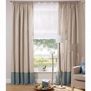 Rideau Bleu Pétrole : rideau l 39 unit finition galon fronceur hamilton d 39 ecorepublic home beige clair bleu p trole ~ Farleysfitness.com Idées de Décoration