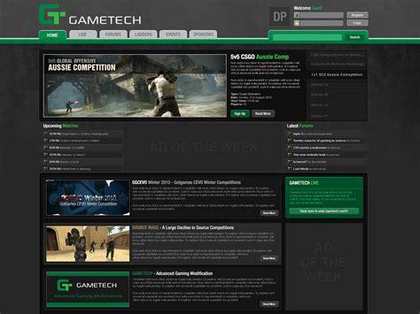 gaming website template gaming website template design 16 by columaes on deviantart