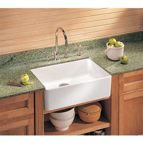 Kitchen Sinks  Fireclay Apron Front 24'' Undermount Or
