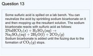 Solved  Part A If 32 Ml Of 6 8 M H2so4 Was Spilled  What I