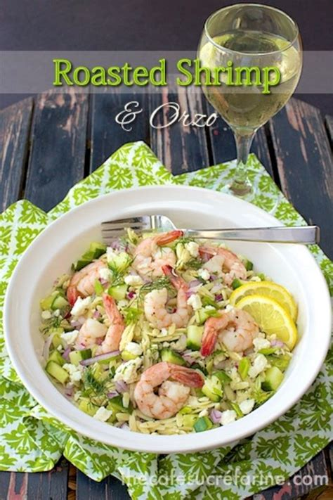 Ina Garten Roasted Shrimp with Orzo