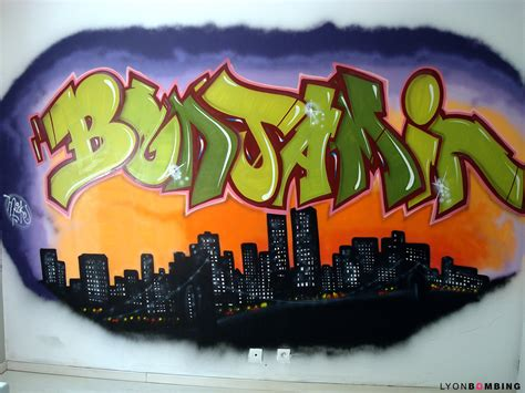 Chambre graffiti Benjamin - Chambre - LYONBOMBING