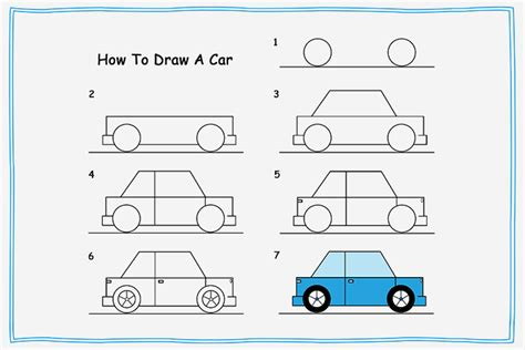 How To Draw A Car Step By Step With Pictures by How To Draw A Car Dr