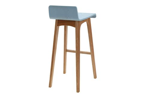 chaise bar design tabouret chaise de bar design bois teinté bleu