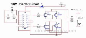 50w 220v Inverter Circuit Diagram Using Ic 4047