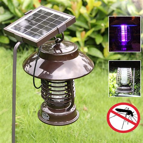 garden solar power anti mosquito led light indoor outdoor