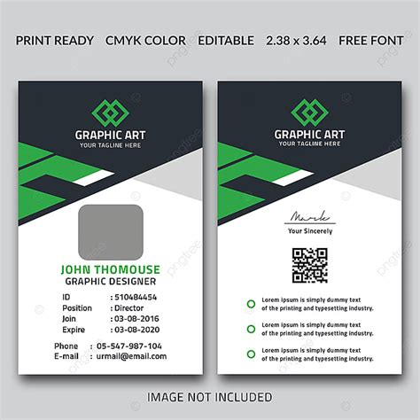 office id card template template     pngtree