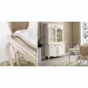 Salle A Manger De Luxe : salle manger de luxe blanche glamour vitrine 2 portes vitr es buffet et chaises ~ Melissatoandfro.com Idées de Décoration