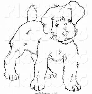Puppy Dog Black And White Clipart - Clipart Suggest