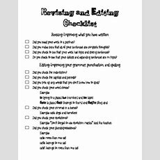 Revising And Editing Checklist By Revenge Of The 5th Tpt