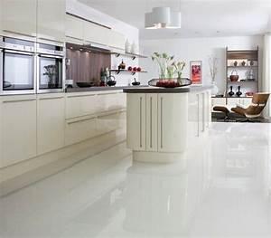 Polished white floor tile £24 92 m Crazy or good idea