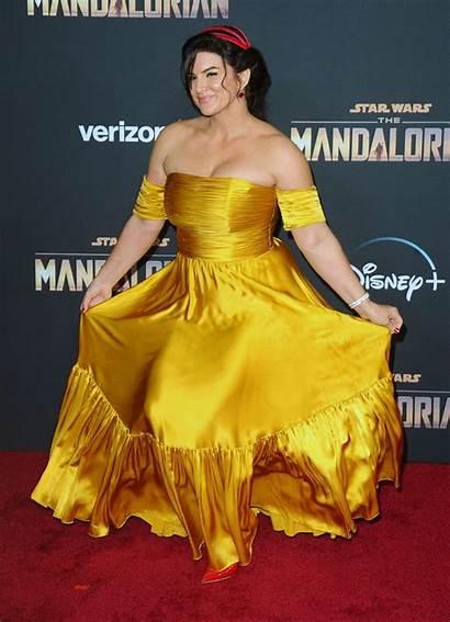 Gina Carano Mandalorian Premiere Hollywood Gotceleb Strikes