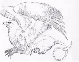 Griffin Mythical Creature Drawing