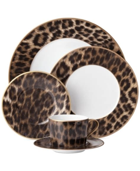 leopard print dishes safari style dinnerware for tables with an international excitement inspired
