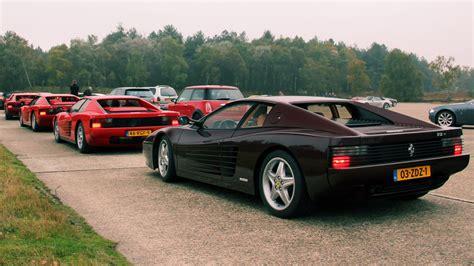 6x Ferrari Testarossa - Lovely Exhaust Sounds! - YouTube