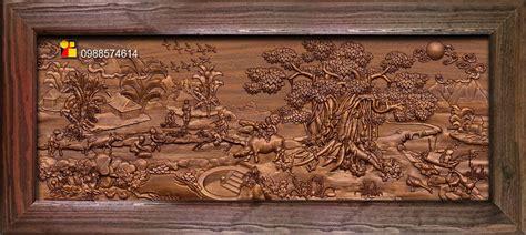 mural landscape wood carving file stl obj  ztl  cnc
