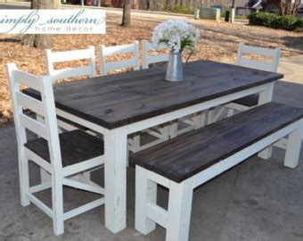 white wash dining room farmhouse table etsy