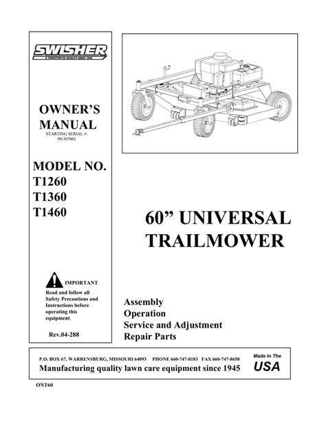 Swisher T1260 User's Manual | manualzz.com