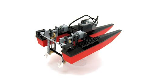 Boat Catamaran Lego by Lego Expert Builds Rc Boat With 3d Printed