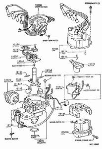 1989 Toyota Tercel Housing  Distributor  Engine