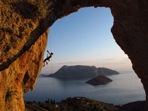 Rock Climbing Kalymnos Island Greece People Places