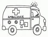 Ambulance Coloring Printable Transportation Activities Truck Books Cartoon sketch template