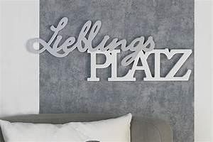 Solarleuchten Zum Hängen : schriftzug lieblingsplatz silber wei holz zum h ngen oder ~ Whattoseeinmadrid.com Haus und Dekorationen