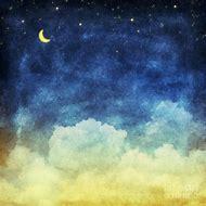 Night Sky Clouds Painting