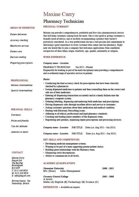 Pharmacy Tech Resume Template by Pharmacy Technician Resume