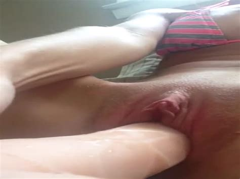 My Pussy Grips On A Big Dildo At