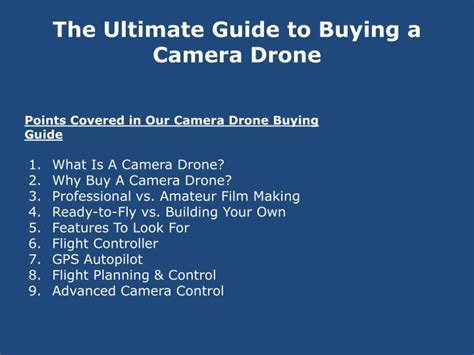 Drone Buying Guide Powerpoint Presentation