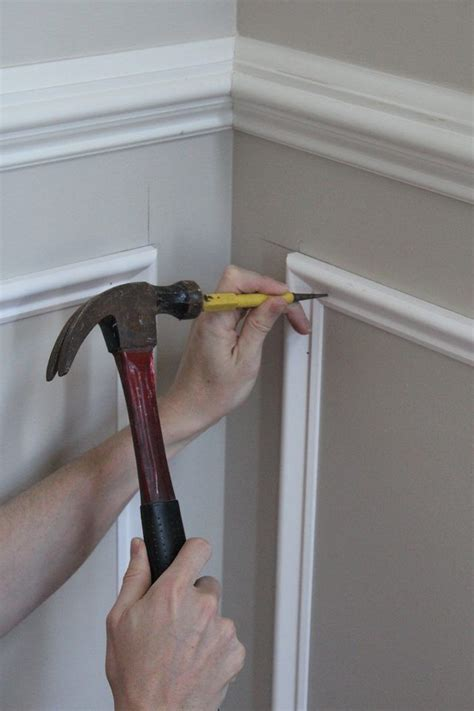 add molding squares   wall