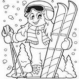 Coloring Skiing Sports Pages Winter Sheets Olympic Printable Fun Ski Activities Snowboarding Hockey Surfnetkids Ice Christmas Books Skier Printables These sketch template
