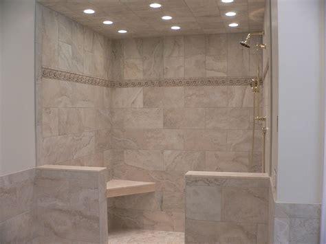 10x20 Inch Shower Tile 12x12 Inch Above Detail Strip