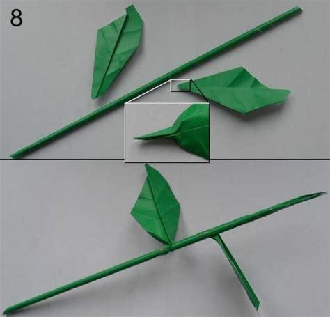 rose aus papier falten blumen basteln anleitung dekoking