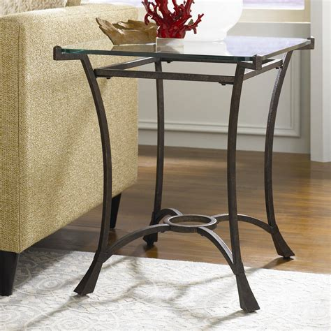 wrought iron end tables with glass tops strong wrought iron wedge shaped end table with glass top