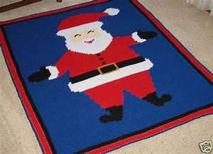 Annie Chart Crochet Patterns Santa Claus Graph Afghan Pattern Easy Ebay
