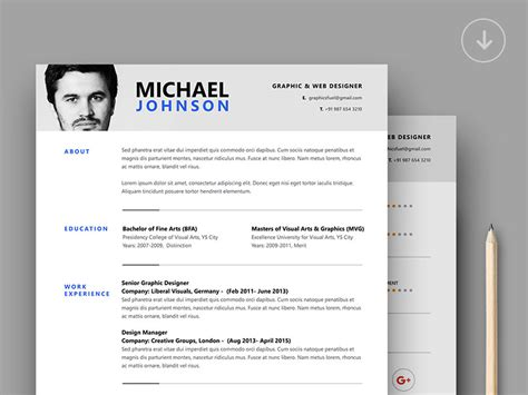 Mock Resume Templates by Resume Template By Graphicsfuel Rafi Dribbble Dribbble