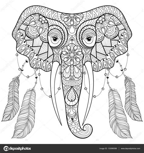 HD wallpapers realistic elephant coloring page