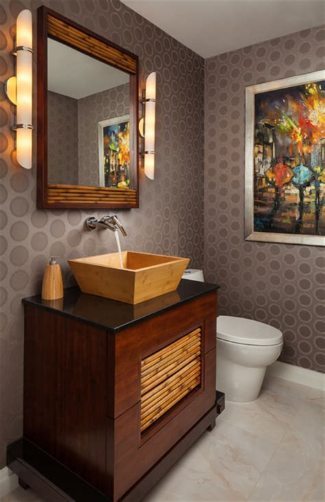 Contemporary Half Bath   Asian   Bathroom   Miami   by