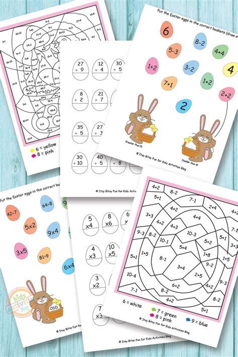 easter math worksheets  kids printables